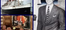 President John Kennedy onboard the RMS Queen Mary
