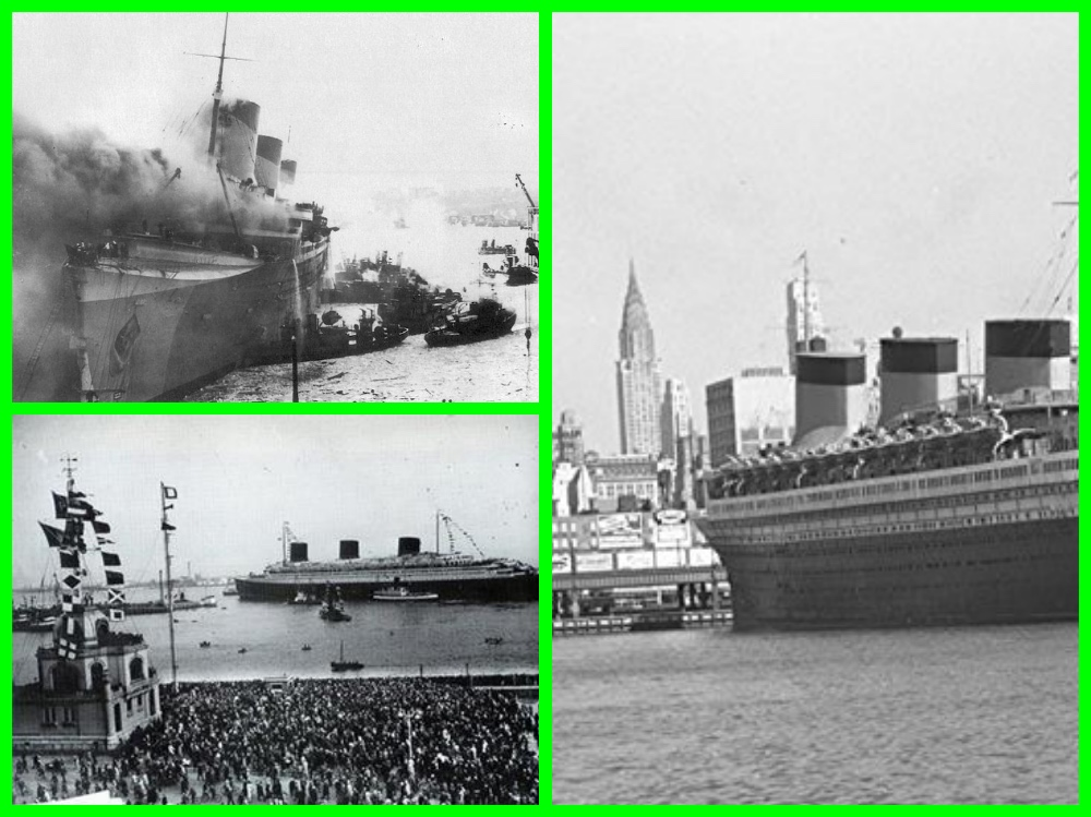 SS Normandie, Liner, Trans-Atlantic, Art Deco, USS Lafayette, Cruise Line History, Cruising the Past, Michael L Grace, RMS Queen Mary, First Class Travel
