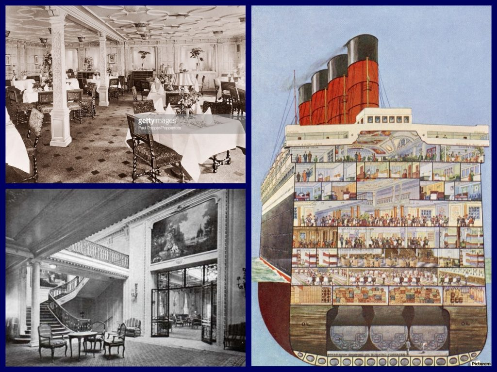 Rms Aquitania, Cunard Line, First Class, Michael L Grace, Cruise line history, war brides, immigrants, tourist class, cruises, cruise