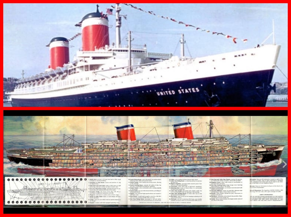 SS United States,Philadelphia's Pier 82, United States Lines, Cruising the past, Michael l grace, William Francis Gibbs, President John F. Kennedy, Judy Garland, John Wayne, RXR Realty