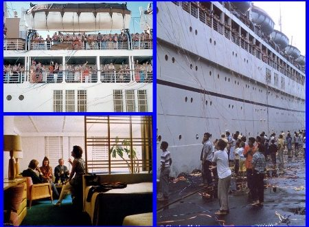 Matson Line's SS LURLINE sailed to Hawaii.