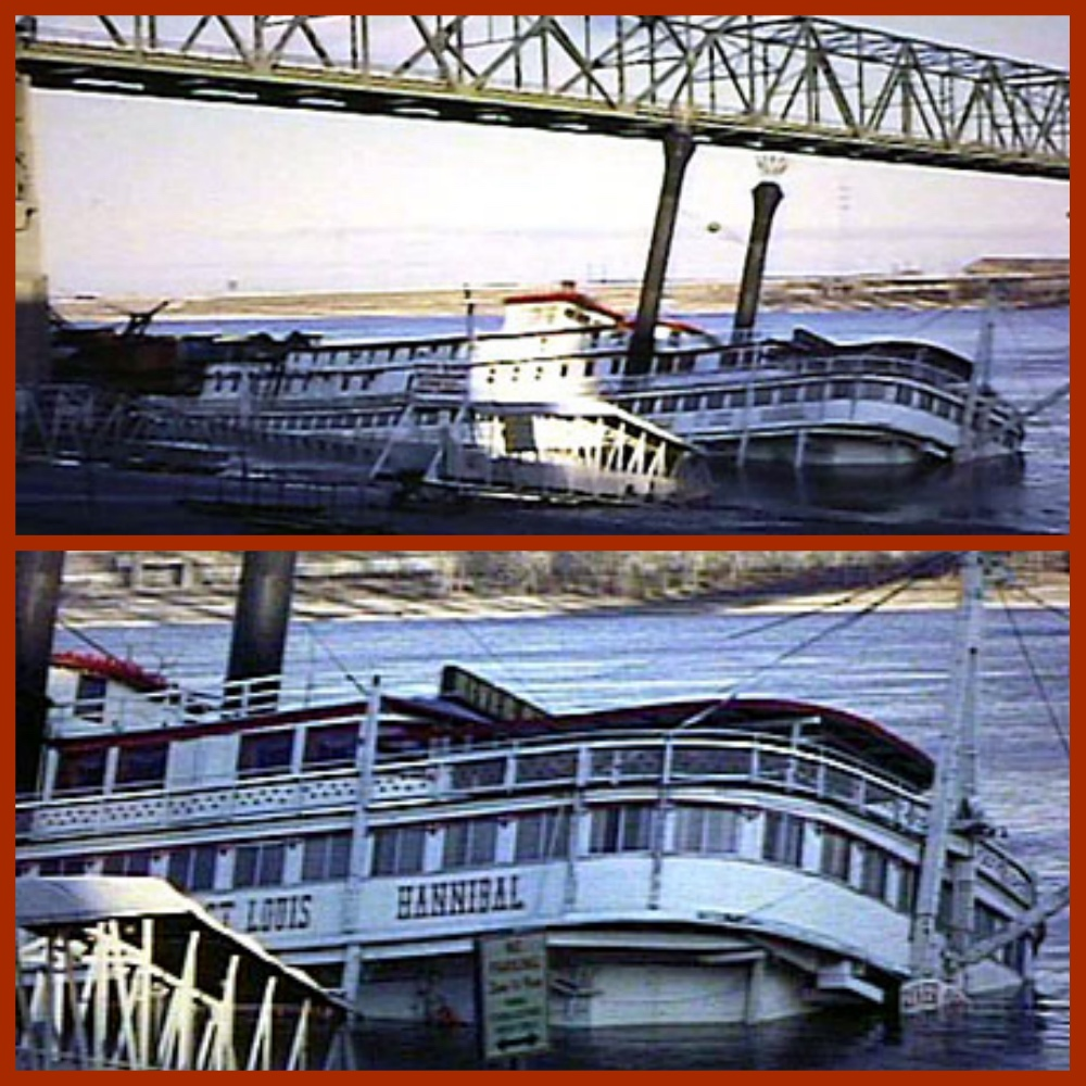 "As the restaurant boat ""River Queen"" she sank at Saint Louis on December 3rd, 1967."