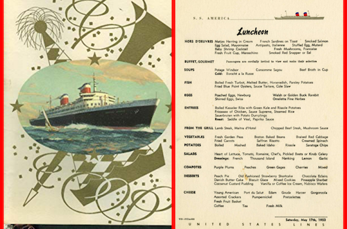 Caviar Always – Cruise Ship Menus from the Past