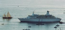 35 years ago the Pacific Princess docked at her new home port of San Diego