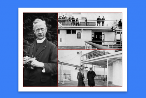 Father Browne's photos of the RMS Titanic sailing from England to Ireland
