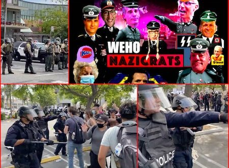 Liberal West Hollywood Politicians Block George Floyd Black Demonstrators From Entering City! WEHO Police Using Rubber Bullets!