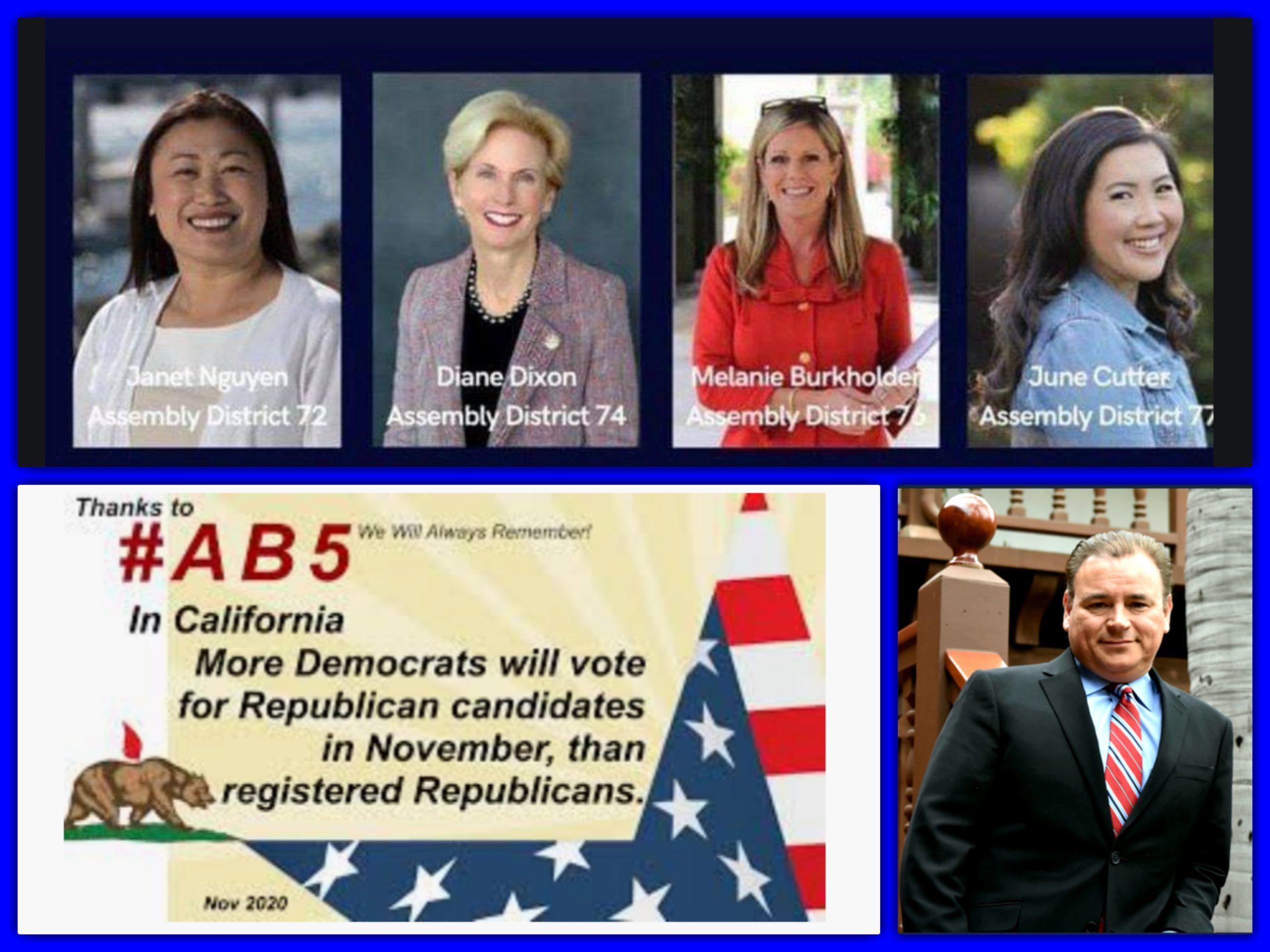 AB 5, Lorena Gonzalez, Democrats, Joe Biden, Kamala Harris, Stop AB 5, Repeal AB 5, Defeat Lorena Gonzalez, Yes on Prop 22, Yes 22, UBER, LYFT