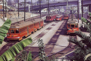 West Hollywood's BIG RED CARS in the 1950s