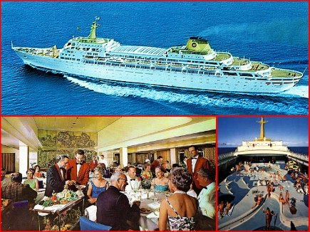 The fabulous OCEANIC was the largest late mid-century ship build for cruising!
