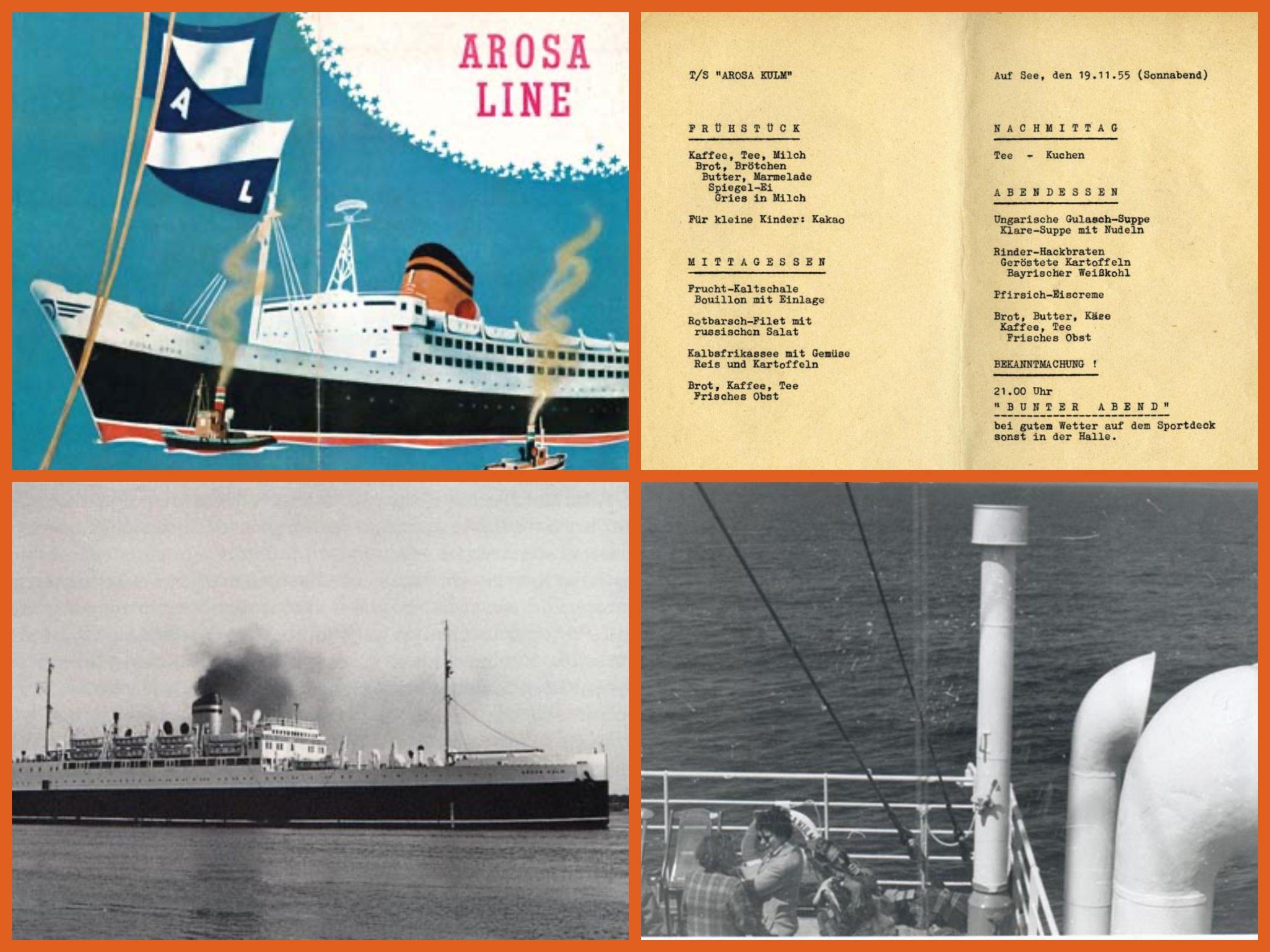AROSA LINE, STEAMSHIPS, IMMIGRANTS, STUDENTS, 1950S, PASSENGERS SHIPS, CRUISE SHIPS