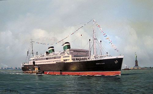 FANTASTIC PHOTO COLLECTION of the GRACE LINE during the 1940s and 1950s