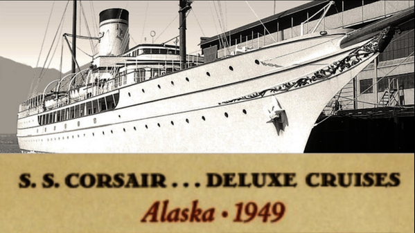 MV CORSAIR offered ACAPULCO & ALASKA Deluxe CRUISES after WW2 until DISASTER STRUCK!