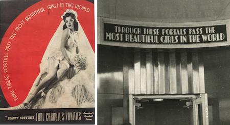 GIRL'S, GIRL'S, GIRL'S – New York's famed EARL CARROLL THEATRE