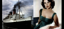 Cunard Line star ELIZABETH TAYLOR sailed aboard the RMS Queen Mary, RMS Queen Elizabeth and the QE2.