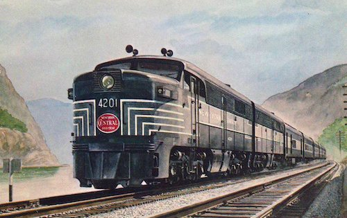 NEW YORK CENTRAL all-Pullman streamliner DETROITER  on the Water Level Route