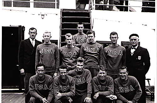American 1936 Olympic Team Sails to Nazi Germany on the SS Bremen